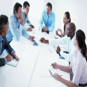 Photo of a meeting to discuss business improvement