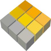 HC logo cube